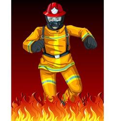 A fireman vector