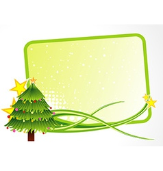 Christmas tree with text space vector