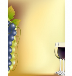 Vine card vector