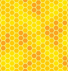 Honeycomb with honey seamless pattern vector