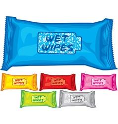Wet wipes vector image