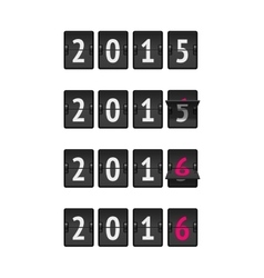 New year countdown vector