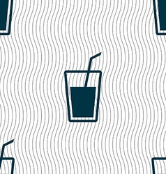 Soft drink icon sign seamless pattern with vector