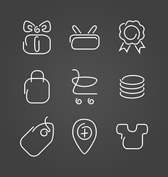 Trade sale set icons draw effect vector
