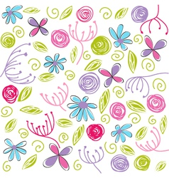 Floral background easter vector