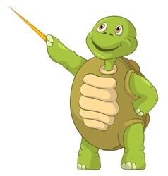Funny turtle showing vector
