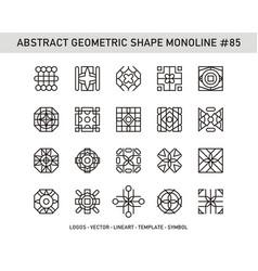 Abstract geometric shape monoline 85 vector