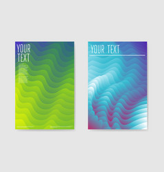 abstract poster liquid wave background vector image