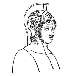 Achilles vintage vector