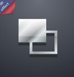 Active color toolbar icon symbol 3d style trendy vector