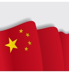 Chinese waving Flag vector image