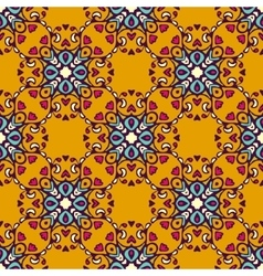Damask flourish seamless pattern vector