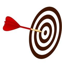 dart hitting a target vector image