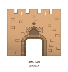 Dung gate in jerusalem vector