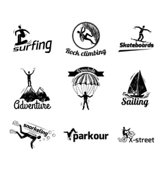 Extreme sports label sketch vector