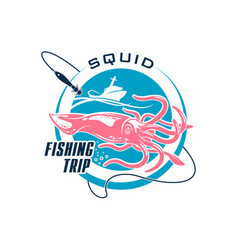 Fishing sport round symbol design vector