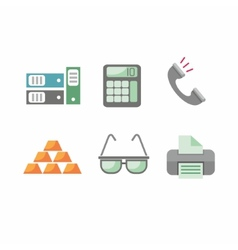 Flat design business and office objects in vector image