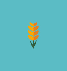 flat icon ear of wheat element vector image vector image
