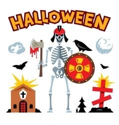 Halloween graveyard cartoon vector