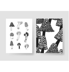 Hand drawn patterns brochures actual vector