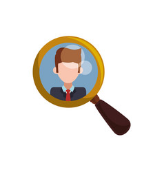 magnifying glass tool man picture vector image