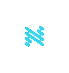 N logo design Line logo Creative logo N letter vector image vector image