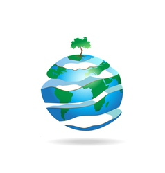 Peeled Earth vector image vector image