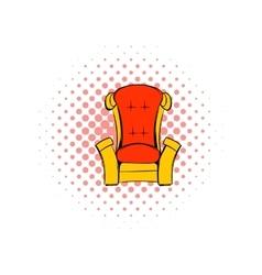 Red throne isometric comics icon vector
