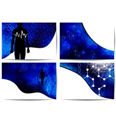 Science medical abstract background vector