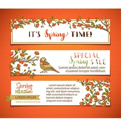 set of bright horizontal spring banners vector image vector image