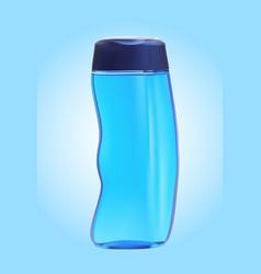 Shampoo bottle on the white backgrounds vector
