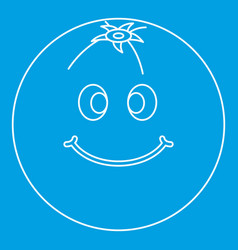 Smiling fruit icon outline vector