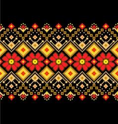 Ukrainian pattern ornament vector