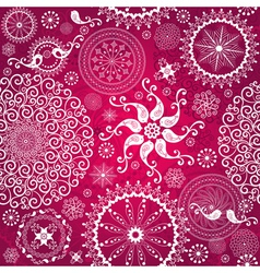 Christmas red repeating pattern vector image