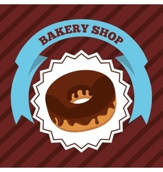 Delicious donut baked goods vector