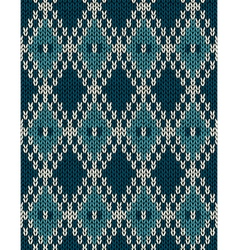Knit woolen seamless jacquard ornament pattern vector