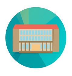 Single city building icon vector