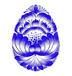Floral decorative ornament easter egg vector