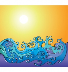 Cartoon waves background vector