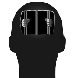 Prisoner in head vector