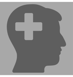 Plus man head icon vector