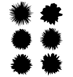 Set of holes with cracks in the paper Eps 10 vector image