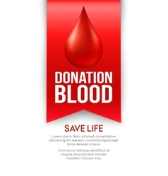 Donate blood poster design vector image