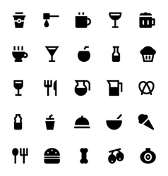 Food and drinks icons 1 vector