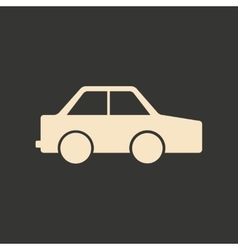 Flat in black and white mobile application toy car vector