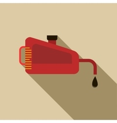 Engine oil icon flat style vector