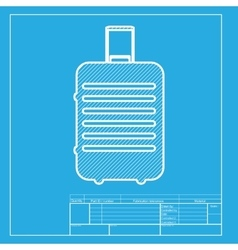 Baggage sign  white section of icon vector