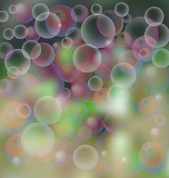 background soap bubbles vector image
