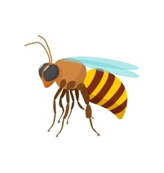 Bee cartoon icon vector