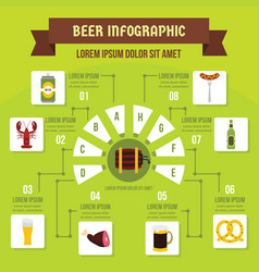 beer infographic concept flat style vector image
